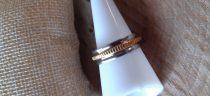 Acél gyűrű arany-fehérarany színben