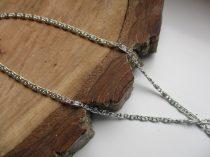 Csiga mintás vékony nemesacél nyaklánc ezüst színben