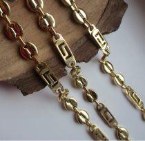Acél barakka szett görög mintával arany színben