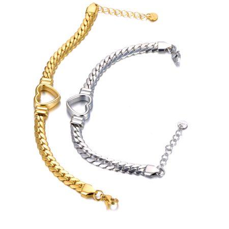 Különleges acél nyaklánc ezüst színben