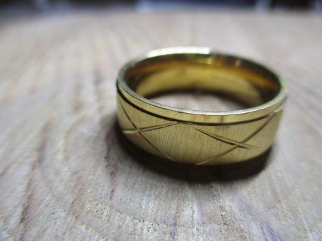 x mintás nemesacél gyűrű