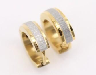Kicsi acél fülbevaló arany-ezüst színben