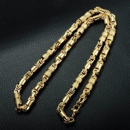 Nemesacél nyaklánc arany színben