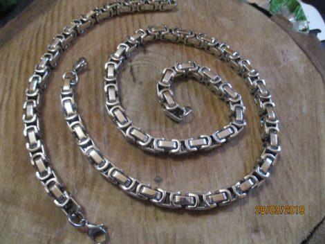 Ezüst színű nyaklánc és karkötő szett