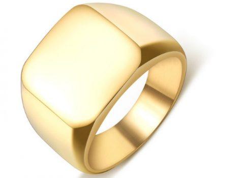 Nemesacél pecsétgyűrű