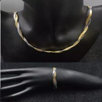 Acél női ékszerszett arany vagy ezüst színben
