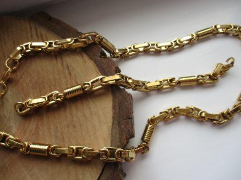 Acél ékszerszett királylánc fazonban arany színben