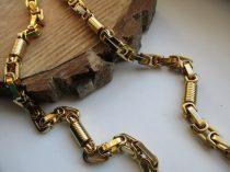 Acél nyaklánc királylánc fazonban arany színben