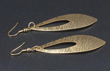 Nagy méretű acél fülbevaló arany vagy ezüst színben