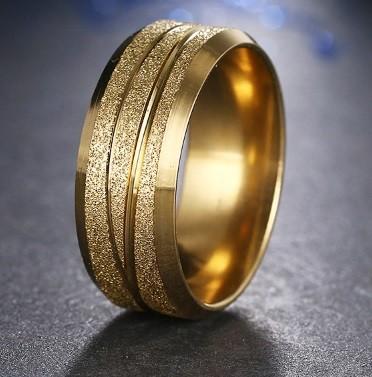 Csillámos nemesacél gyűrű