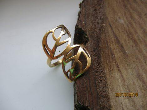 Levél alakú nemesacél gyűrű