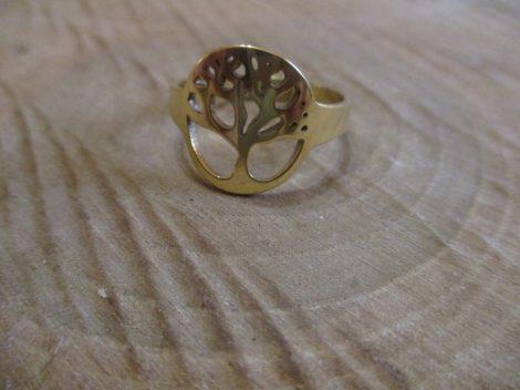 Fa mintás nemesacél gyűrű