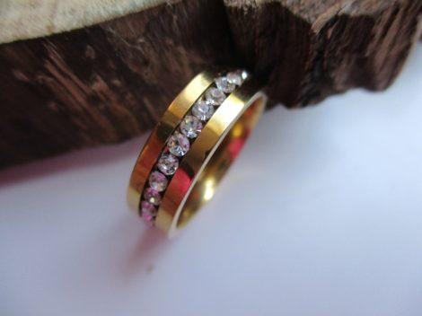 Apró köves nemesacél gyűrű