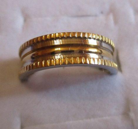 Nemesacél gyűrű arany-ezüst színben