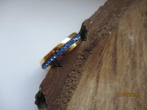 Kék köves nemesacél gyűrű
