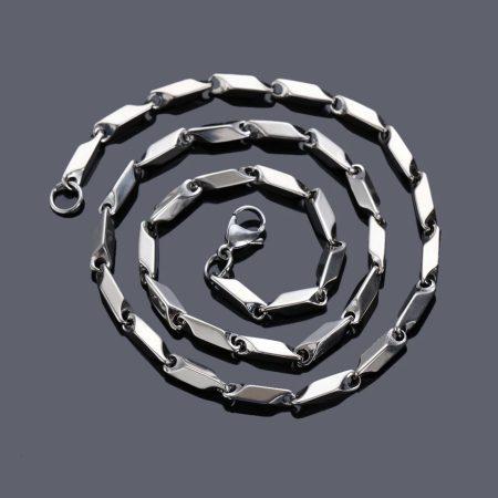 Ezüst szìnű rombusz mintás nyaklánc