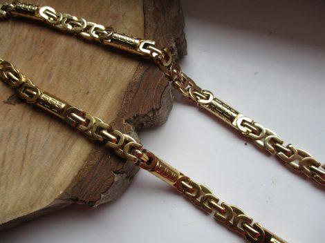 Királylánc fazonú nemesacél nyaklánc görög mintával
