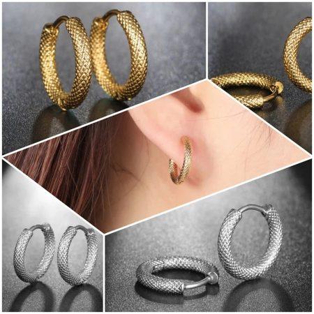 Arany vagy ezüst színű acél női fülbevaló