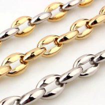 Arany vagy ezüst színű acél barakka karkötő