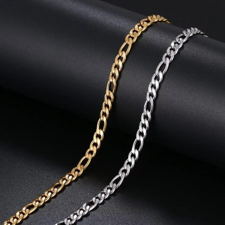 Acél figaro karkötő arany vagy ezüst színben