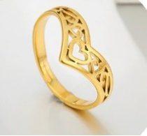Állítható méretű nemesacél gyűrű arany vagy ezüst színben