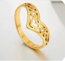 Állítható méretű nemesacél gyűrű