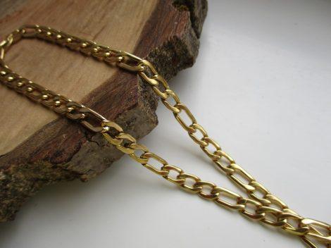 Választható  vastagságú acél figaro nyaklánc