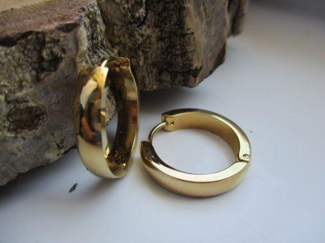 Arany színű női acél fülbevaló