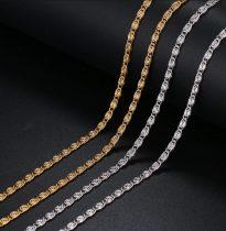 Acél nyaklánc csiga mintával arany vagy ezüst színben