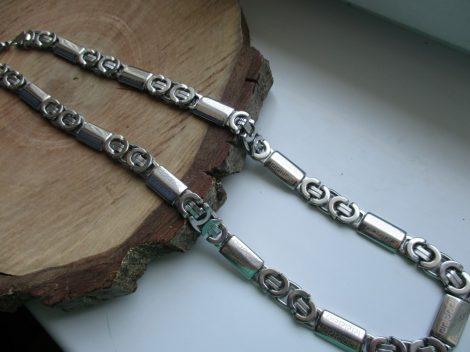 Extra méretű acél királylánc görög mintával