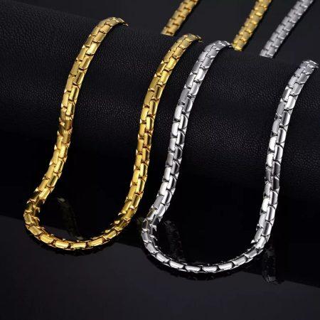 Vastag nemesacél nyaklánc arany vagy ezüst színben