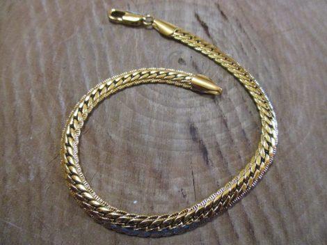 Arany színű acél női karkötő