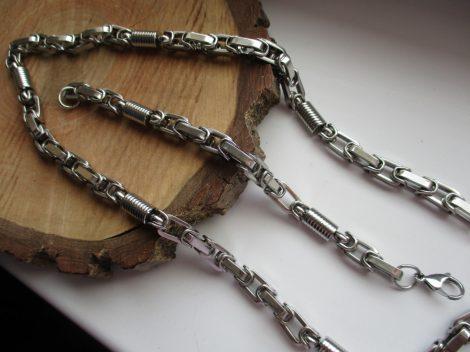 Acél ékszerszett királylánc fazonban ezüst színben