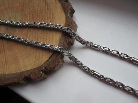 Görög mintás ezüst színű nemesacél nyaklánc