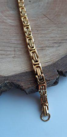 Férfi divatkarkötő arany színű nemesacél elemekkel
