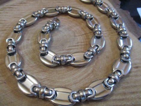 Nemesacél ezüst színű barakka nyaklánc