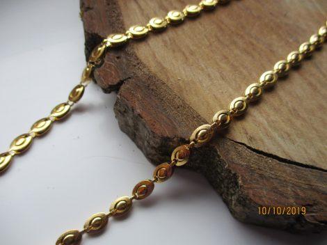 Nemesacél női nyaklánc arany színben