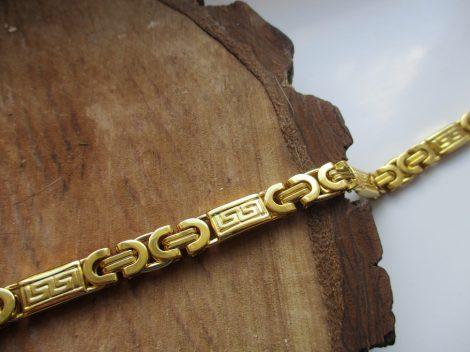 Arany színű görög mintás férfi karkötő nemesacélból