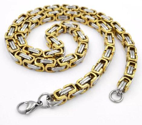 Arany színű nyaklánc lánc mintával