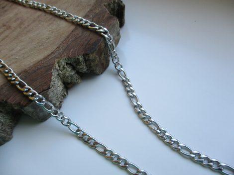 Nemesacél ezüst színű figaro férfi nyaklánc