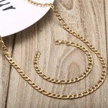 Acél figaro ékszerszett arany vagy ezüst színben