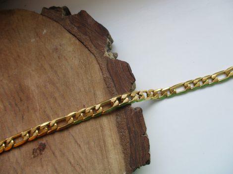 Nemesacél figaro típusú arany színű férfi karkötő