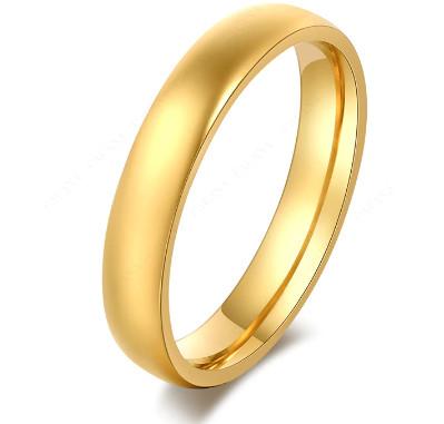 Arany színű nemesacél karikagyűrű