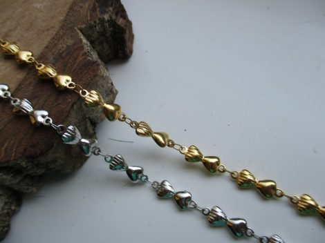 Masni mintás nemesacél nyaklánc arany vagy ezüst színben