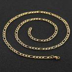 Figaro típusú nemesacél nyaklánc arany színben