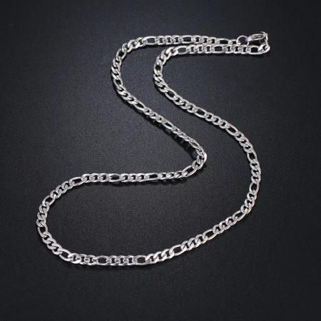 Figaro típusú nemesacél nyaklánc ezüst színben